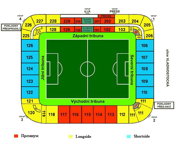 Схема стадиона Eden
